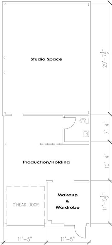Floor plan of Barn Door Studio